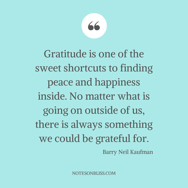 ... Gratitude Sweet Shortcut To Happiness Quote ...