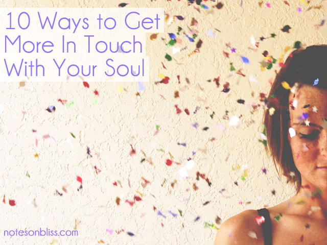 in touch with your soul