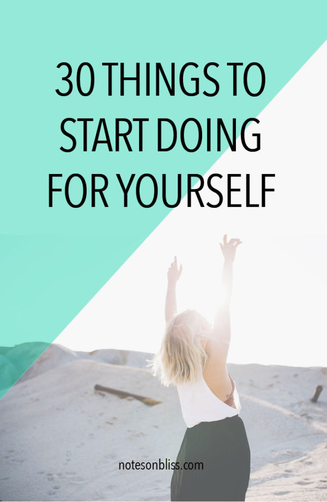 doing for yourself